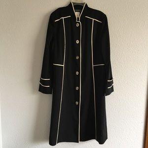 Long Black & White Lightweight Coat
